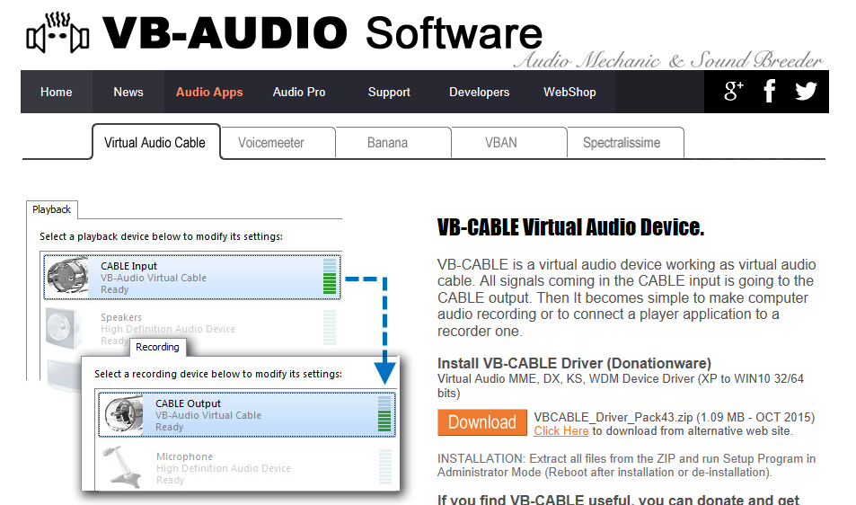 VB−Audio Virtual Cable