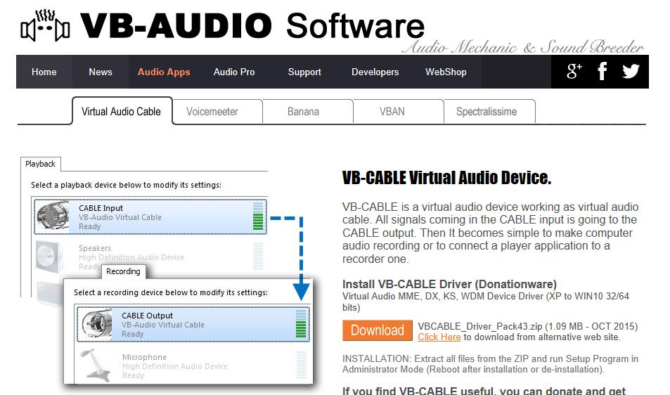 VB−Audio Virtual Cable